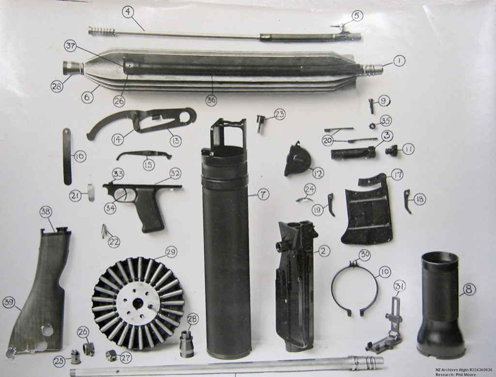 Lewis Gun in Pieces And Parts