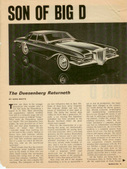 The Duesenberg Returneth, Car Life 3/66