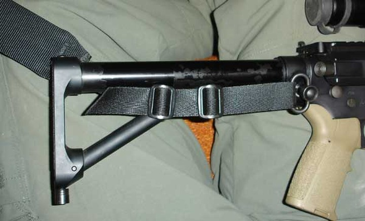 Single point sling mount with ACE skeleton stock - AR - [Rifles