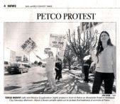 2003 Petco Protest