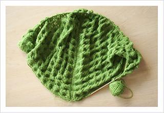 Crib Blanket Afghan #38 Pebble Gartern Brick Knitting Pattern Ann Norling