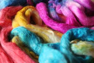 Yellow-Pink-Green ArtYarns :Regal Silk #103: