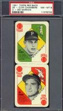 1951 Topps Red Back Panels