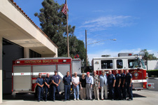 HUNTINGTON BEACH FIREMEN SALUTE VETERANS