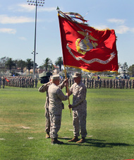 MARINE CORPS CHANGE OF COMMAND CEREMONY