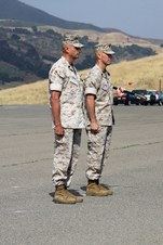 SERGEANTS  MAJOR KIMBLE & DABNEY, USMC