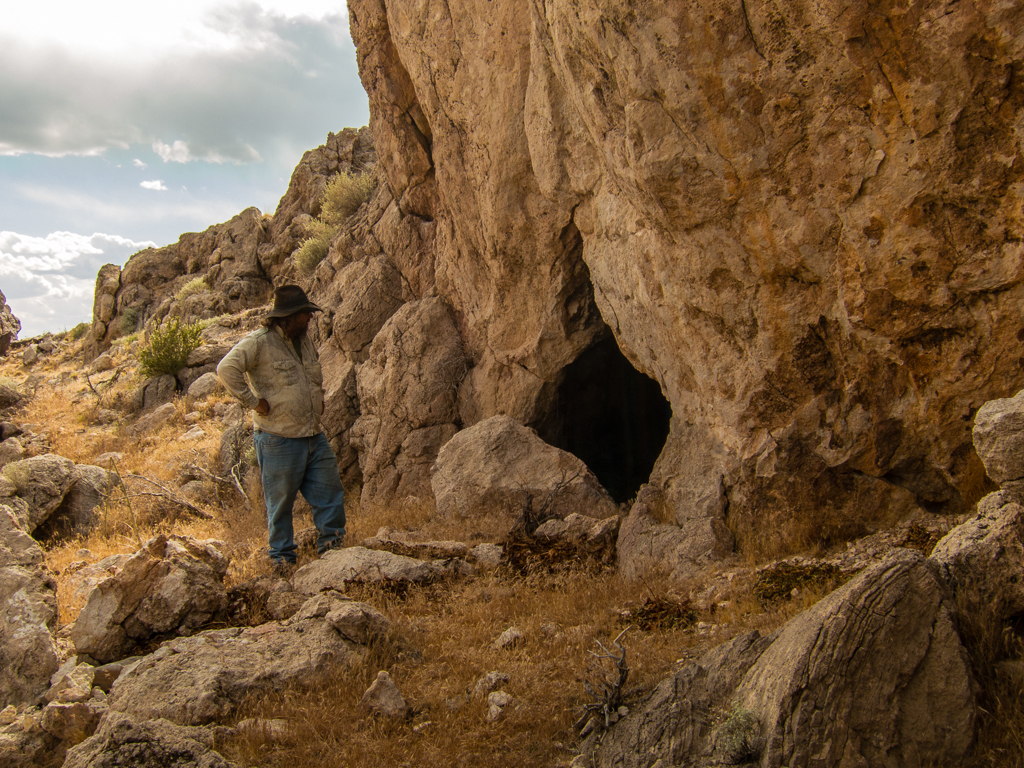 Indian hunting camp cave