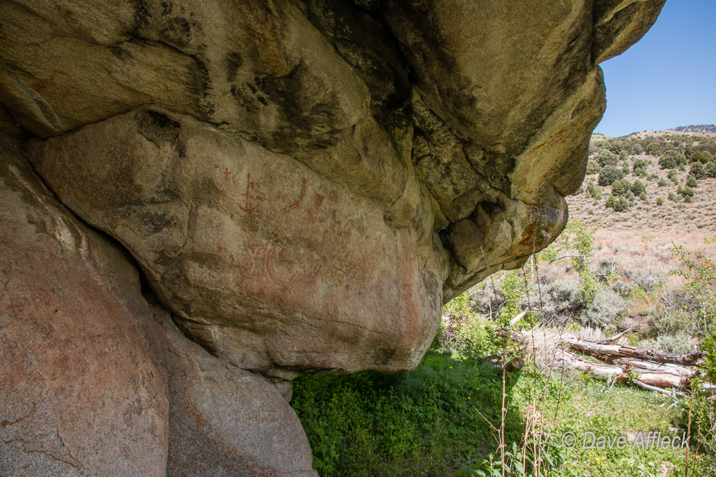 Pictograph panel in Scott's Basin