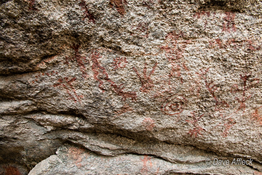 Rock art inside rock shelter