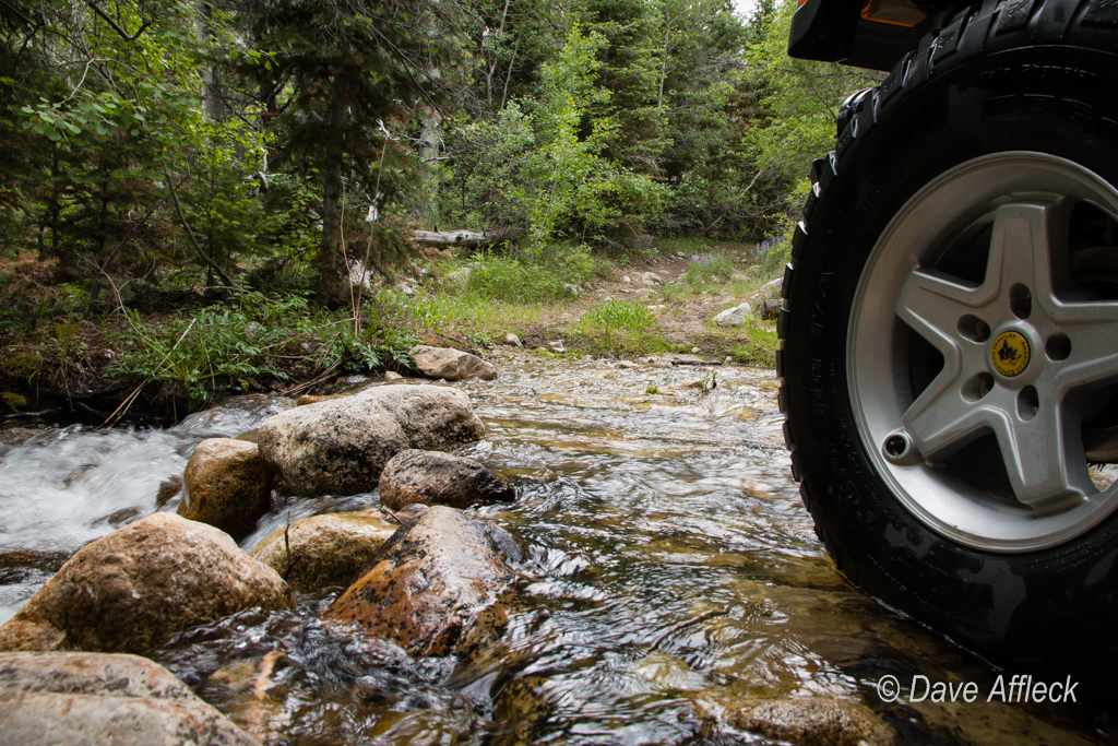 Stream crossing in Granite Creek Canyon