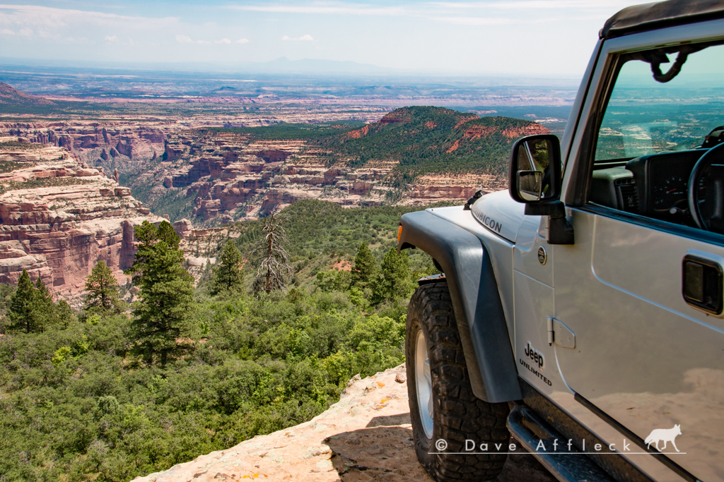 Jeep on top of cliff