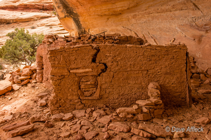 Anasazi wall showing evidence of remodeling