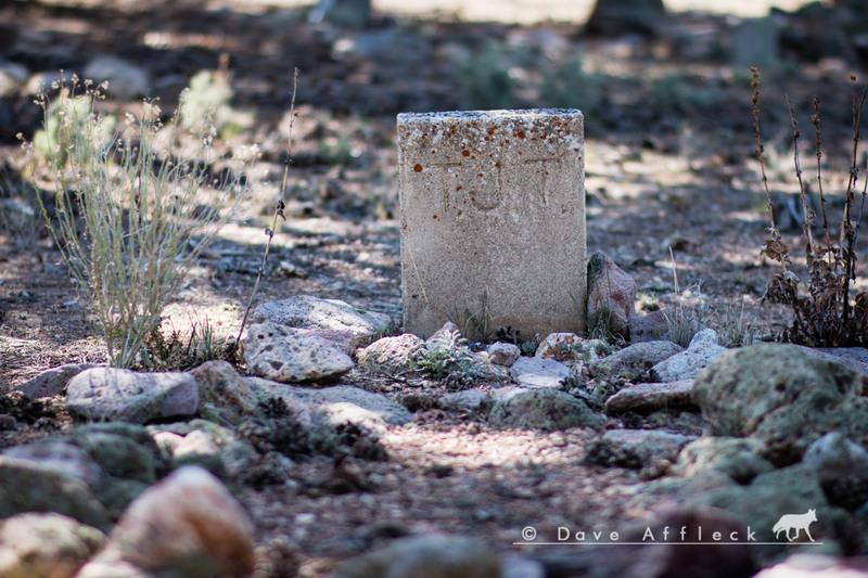 Headstone in Stateline cemetery