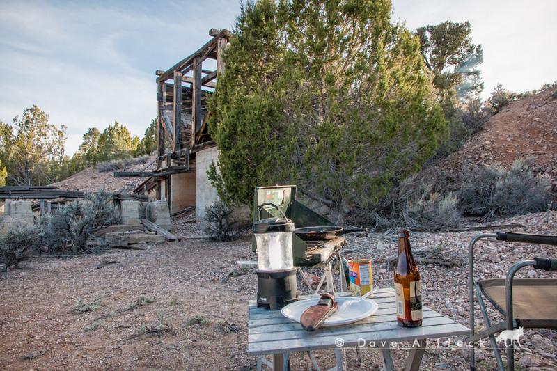 Etna mine campsite