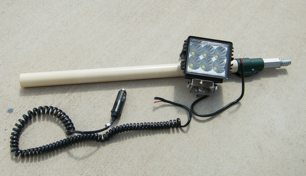 Paint Pole Led Camp Light Expedition Utah