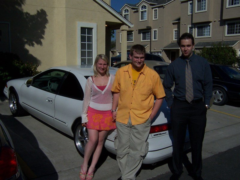 My Son Justin Middle His Friend Left And Er Right Posing With The Car
