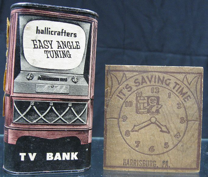lot of 2 vintage 1930 50 39 s banks hallicrafters tv cassel harrisburg pa wood ebay. Black Bedroom Furniture Sets. Home Design Ideas