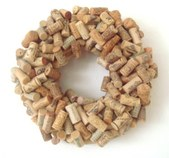 Wine Cork Wreaths & Grape Themed Jewelry