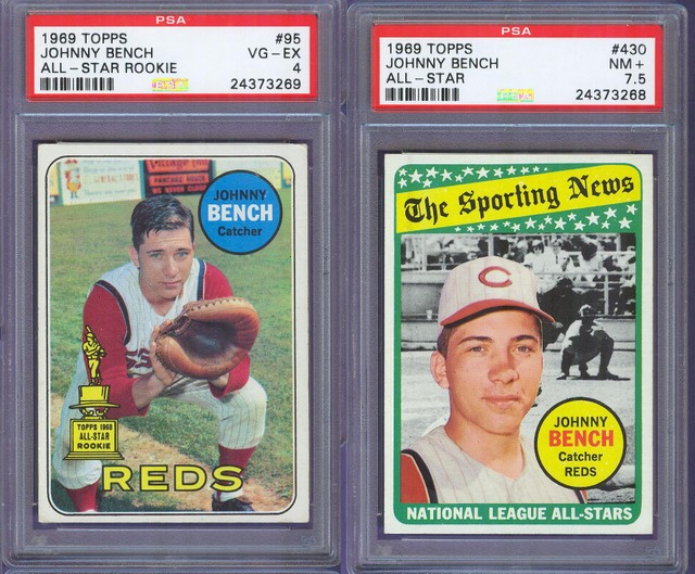 1968 Topps Johnny Bench Rookie Card Net54baseballcom Forums