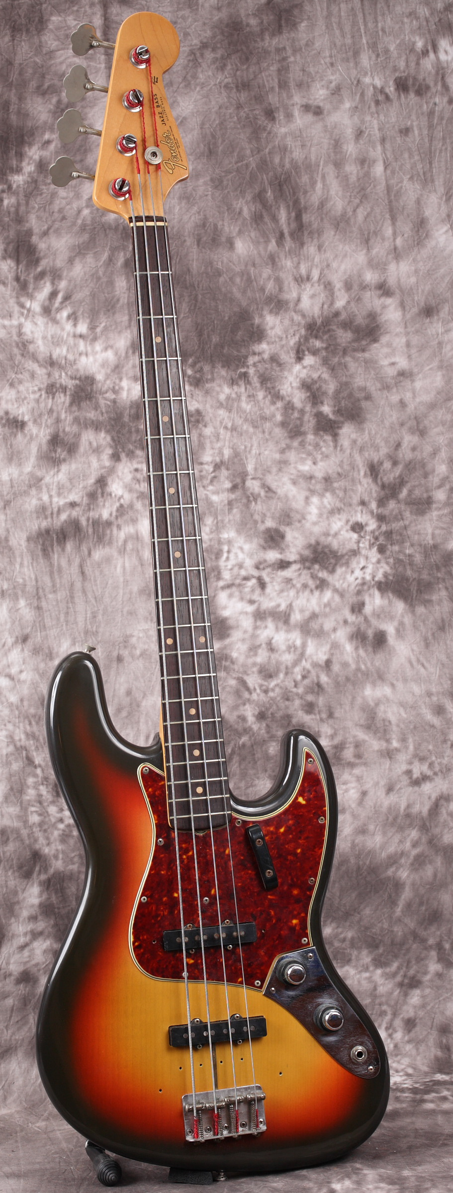 1960 fender stack knob jazz bass sunburst ohsc ebay. Black Bedroom Furniture Sets. Home Design Ideas