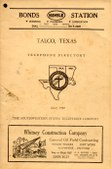1957 Talco Texas Phone Book