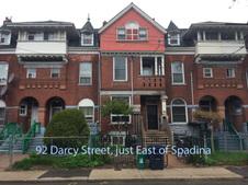 E 92 Darcy Street, just East of Spadina