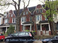 H 49 & 65 Sullivan Street, just west of