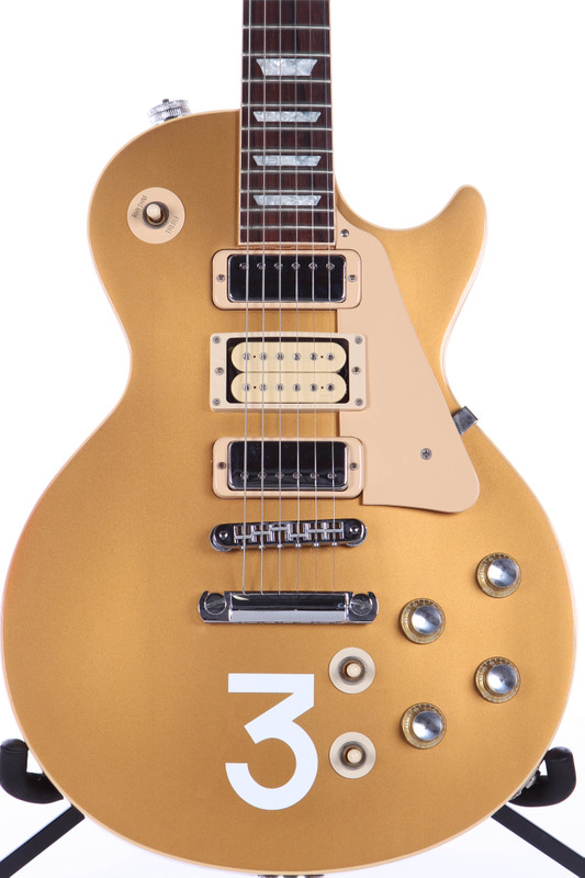 2005 gibson custom shop les paul deluxe pete townshend signature goldtop ebay. Black Bedroom Furniture Sets. Home Design Ideas