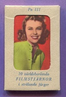 """1958 Sweden Filmstar """"PA"""" cards"""
