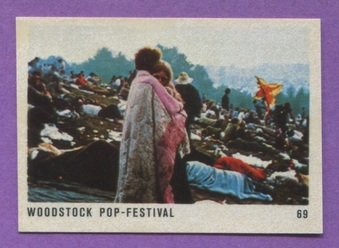 1970 Hit Parade Woodstock Stickers