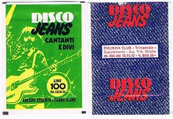 1976 Disco Jeans Stickers