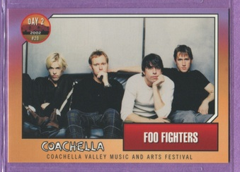 2002 Coachella Music Festival Cards