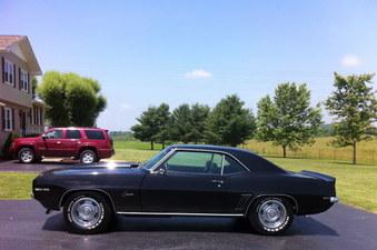 SOLD! 69 Camaro CA. Black Plate Car!