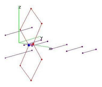UHF 8-El Bi-Quad Yagi 2ReflRods - OPT