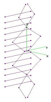 UHF Four-UnEqual-Diamonds CutEnds - 13RR