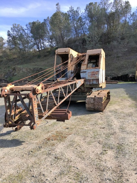 bucyrus erie 25b crane for sale