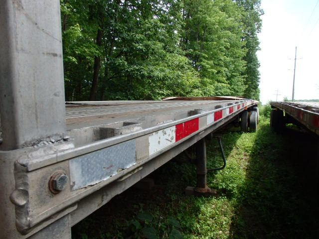 2000 Transcraft Eagle II Spread Axle 48' Aluminum flat bed Trailer