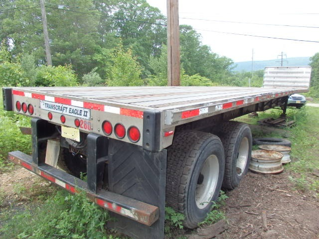 2003 Transcraft Eagle II Spread Axle 48' Aluminum flat bed Trailer
