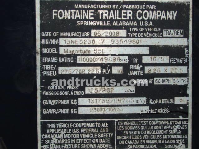 2008 Fontaine 55 Ton Trailer
