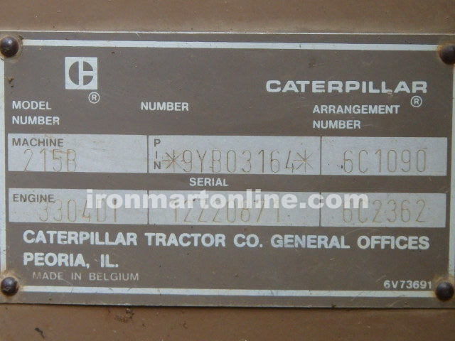 Cat 215B Excavator with Thumb for sale