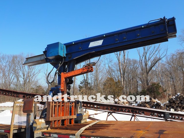 used 6000lb steelmaster telescoping trolley boom for sale