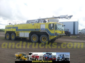 aircraft rescue fire fighter truck used