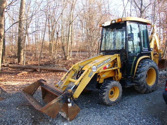 John Deere 110 Backhoe : John deere backhoe loader used for sale