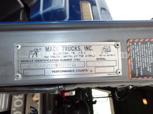 Mack CL713 Tri Axle Tractor with 55 Ton Lowboy
