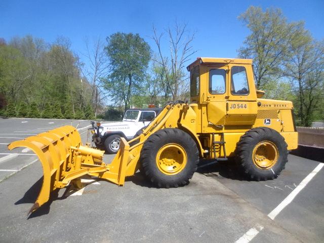 John Deere Wheel Loader 544 W 14ft Plow And Gp Bucket