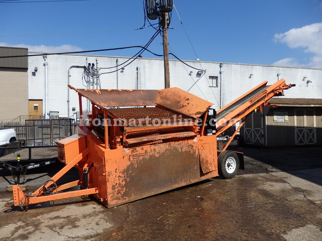 Ez screen 1200xl soil screener with conveyor and shaker for Soil for sale