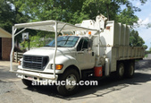 F750 Chip Truck w 7 Ton Knuckle Boom