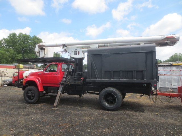 1995 ford f800 super duty boom chip truck used for sale. Black Bedroom Furniture Sets. Home Design Ideas