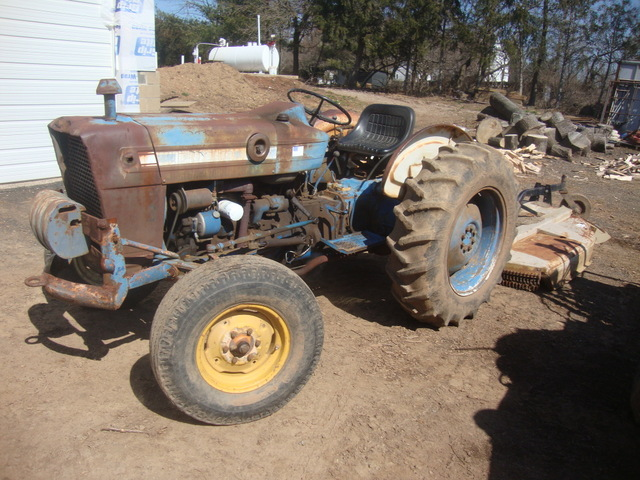 Ford 3000 Farm Tractor plus Land Pride Brush Hog used for sale