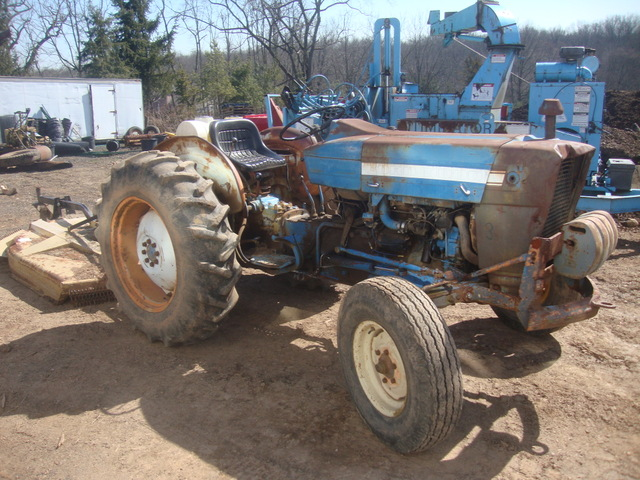 Ford 3000 Farm Tractor : Ford farm tractor plus land pride brush hog used for sale